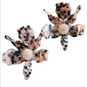 Lele Sadoughi pink tortoise earrings
